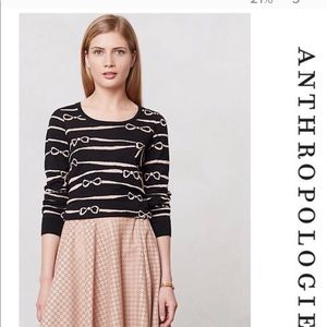 Anthropologie HWR Bow Knot Sweater
